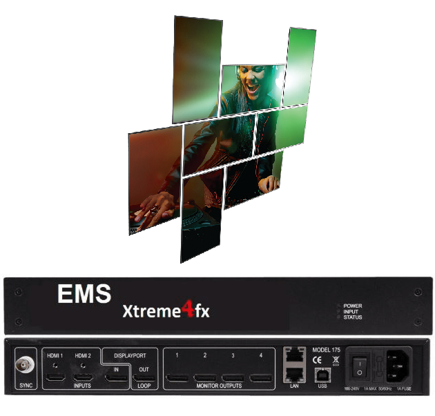 Xtreme4fx 4k60 Input 4x Hd Outputs Multi Display Wall Controller